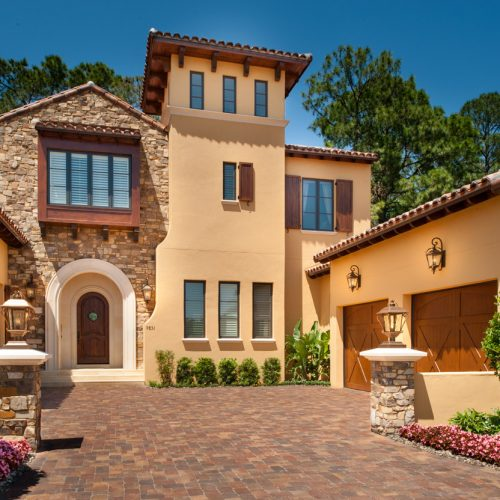 beautiful custom residential home built by Cahill Homes, a Central Florida home builder