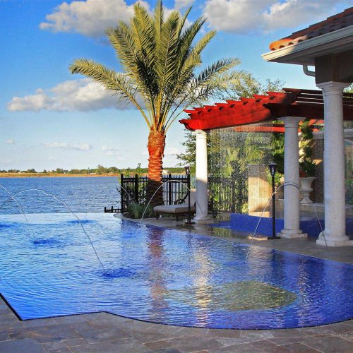 custom pool designed by custom home builder Dave Brewer of Central Florida Builders