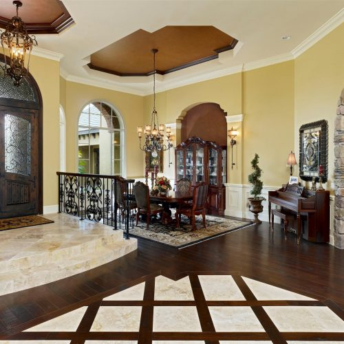 interior of residential home designed by Dave Brewer Homes, a Central Florida Builder