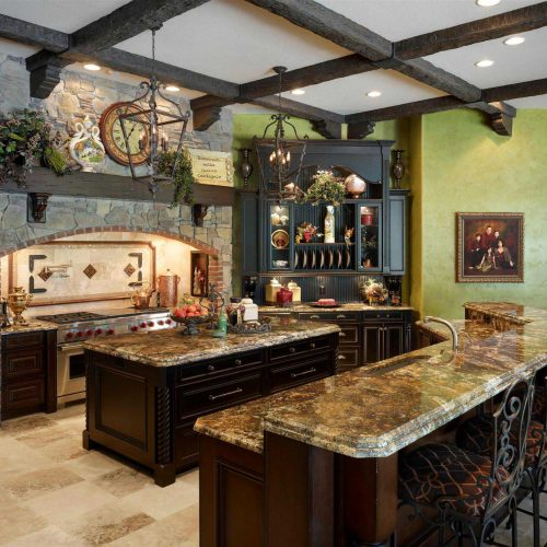 custom rustic interior designed by Dave Brewer Homes, a Central Florida custom home builder