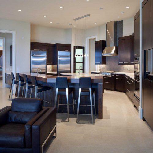 custom kitchen design built by Central Florida custom home builder Dave Brewer