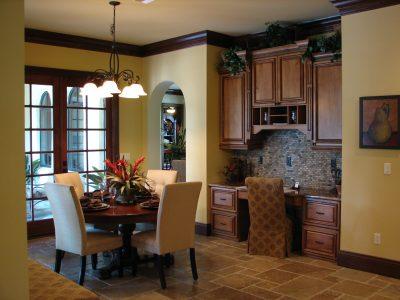 custom dining room in Orlando custom home designed and built by RJV Homes, a Central Florida Home Builder