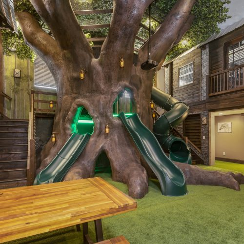 custom design children play area built by McNally Construction Group of Central Florida custom home builders