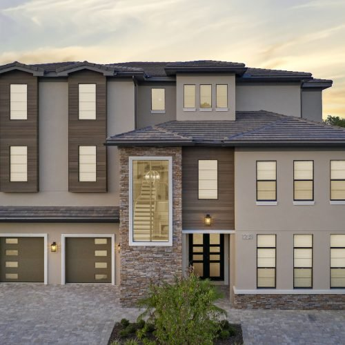 custom residential home by McNally Construction Group of Central Florida Home Builders