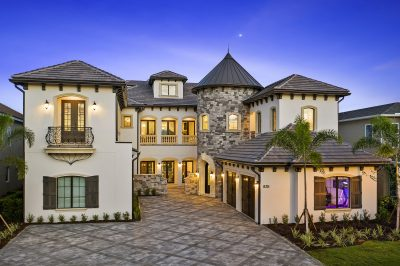 custom Mediterranean style home by McNally Construction Group of Central Florida home builders