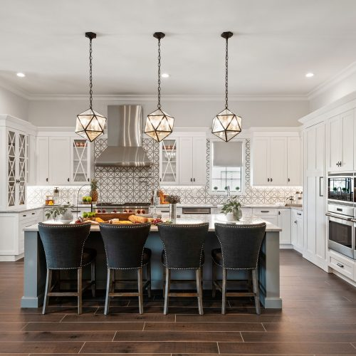 custom kitchen design in residential home built by McNally Construction Group of Central Florida Builders
