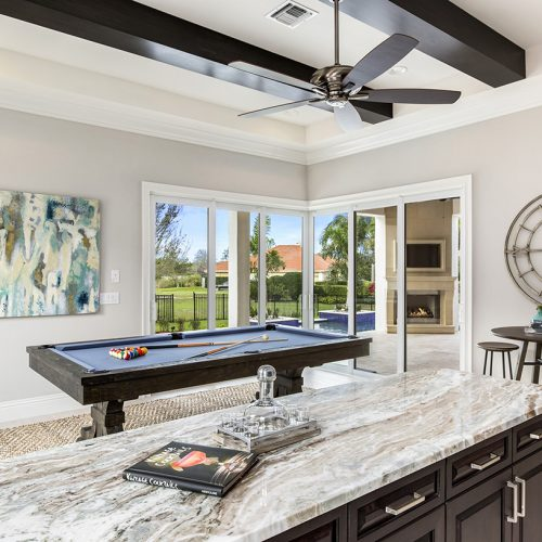 custom game room interior designed and built by Element Home Builders, a Central Florida residential builder