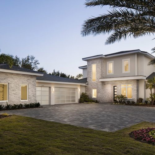 custom residential home in the Windermere area constructed by Element Home Builders of Central Florida Builders