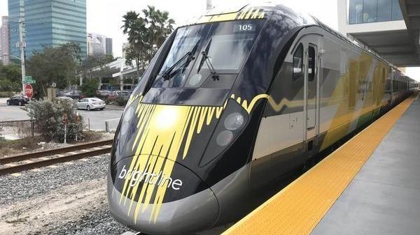 Brightline Train in Central Florida
